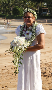5/6/14 My wedding dress (Hawaiian Holoku)