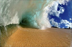 Beach-..-surf-crashes-down-ocean-wave-energy-wallpapers