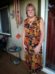 7/20/2014 At home in my orange dress