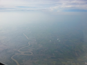 Leaving Thailand - lots of water down there.