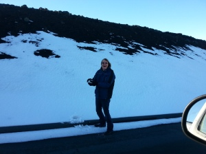 Jan. 3, 2015 Snow at the summit of Mt. Haleakala